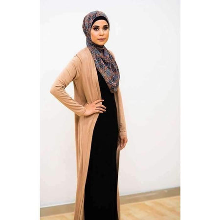 Gold Japanese Cotton Maxi Cardigan - Divinity Collection