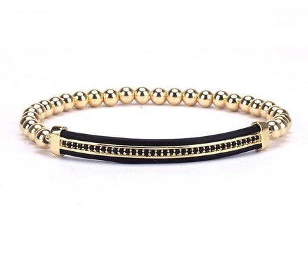 Gold Plated Beaded Bracelet - Divinity Collection