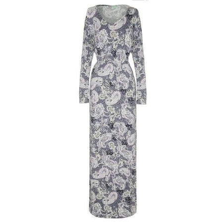Grey and Pink Paisley Dress - Divinity Collection