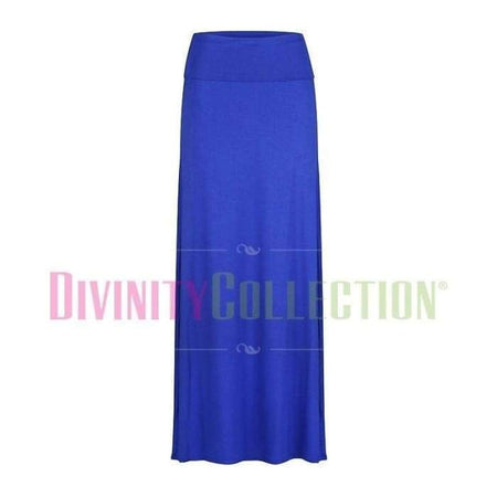 High Waist Jersey Electric Blue Skirt - Divinity Collection