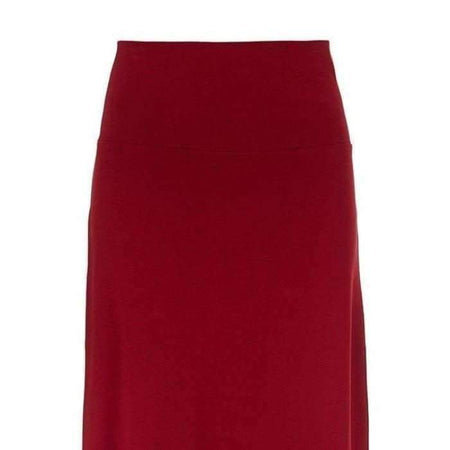 High Waist Ponte Maroon Skirt - Divinity Collection