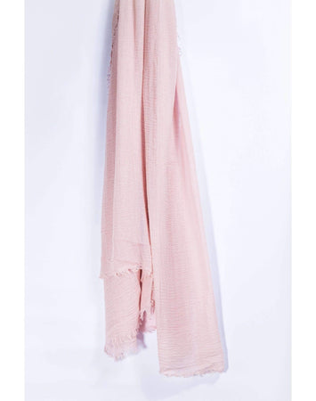 Light Pink Crinkle Hijab - Divinity Collection
