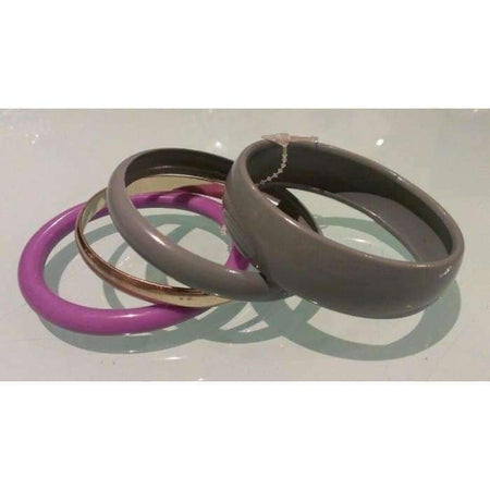 Light Purple and Grey 4pc Bangle Set - Divinity Collection