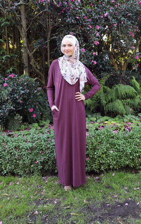 Maroon Batwing Abaya Dress - Divinity Collection