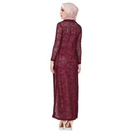 Maroon Lace Cardigan - Divinity Collection