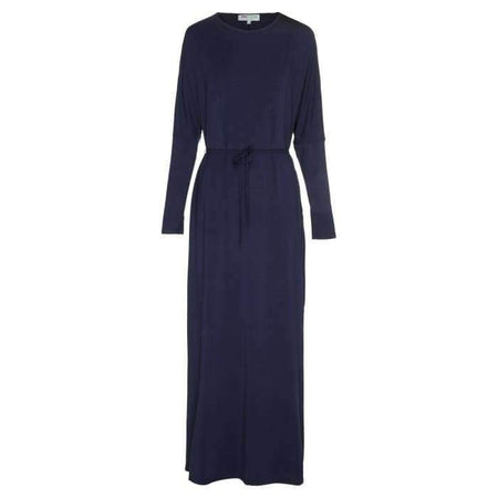 Navy Batwing with Tie Waist Dress - Divinity Collection