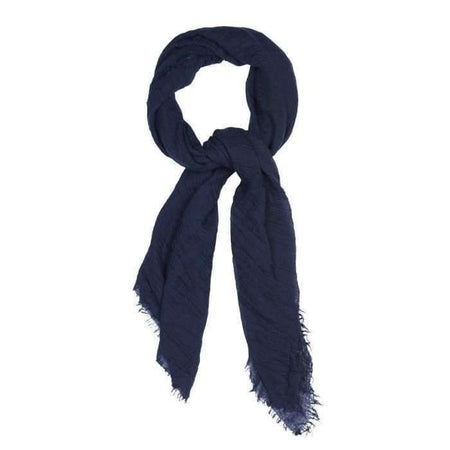 Navy Crinkle Hijab - Divinity Collection