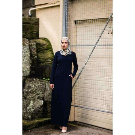 Navy Pocket Dress - Divinity Collection