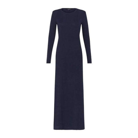 Navy Ribbed Knit Dress - Divinity Collection