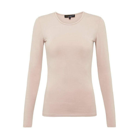 Nude Long Sleeve Cotton Top - Divinity Collection