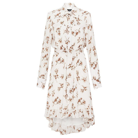 Off White and Mocha Floral Tunic - Divinity Collection