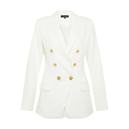 Off White Blazer with Gold Buttons - Divinity Collection