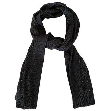 Pearl Crinkle Chiffon Hijab - Black - Divinity Collection