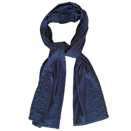 Pearl Crinkle Chiffon Hijab - Navy - Divinity Collection