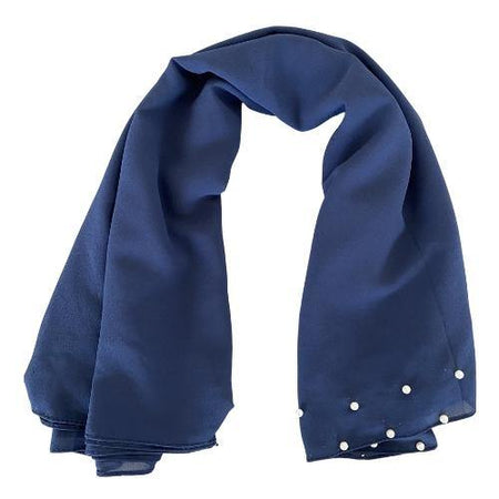 Pearl Plain Chiffon Hijab - Navy - Divinity Collection