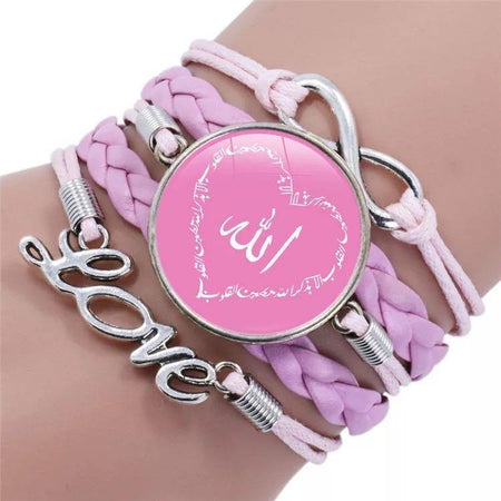 Pink Heart Faith Bracelet - Allah - Divinity Collection