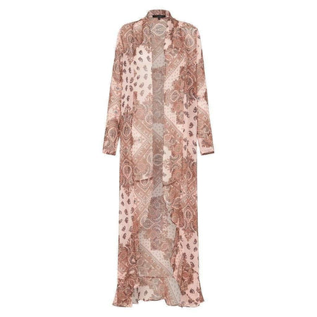 Pink Paisley Frill Cape - Divinity Collection