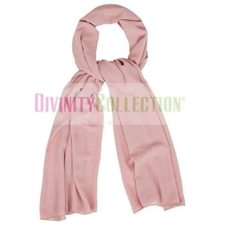 Plain Chiffon Dusty Pink Hijab - Divinity Collection