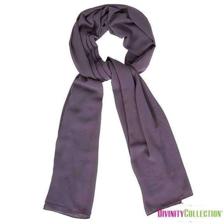 Plain Chiffon Eggplant Hijab - Divinity Collection