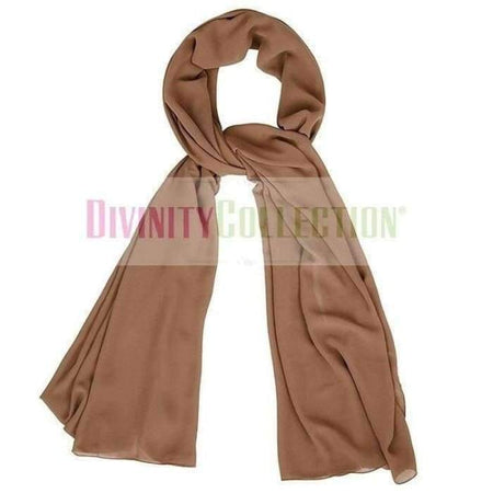 Plain Chiffon Light Brown Hijab - Divinity Collection