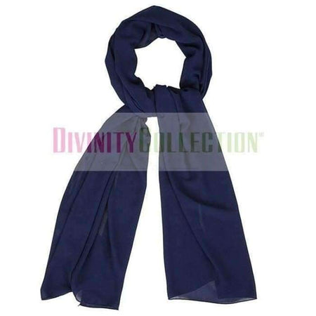 Plain Chiffon Navy Hijab - Divinity Collection