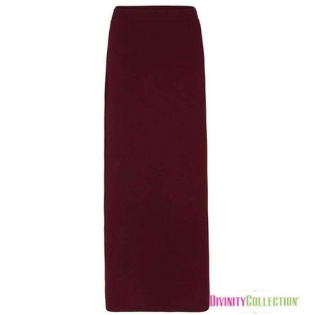 * Ponte Maroon Pencil Skirt - Divinity Collection
