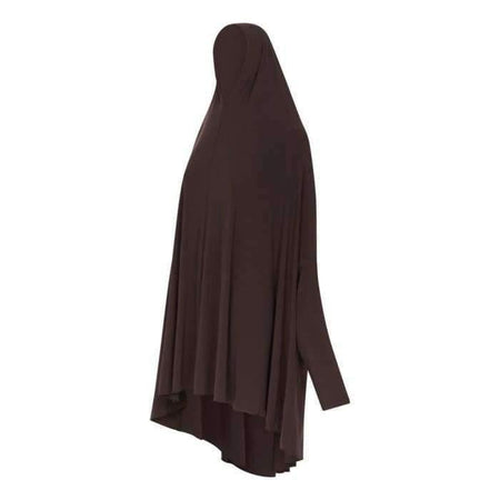 * Premium Chocolate Jilbab with Sleeve - Divinity Collection