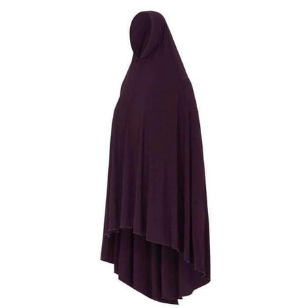 * Premium Eggplant Jilbab with Sleeves - Divinity Collection