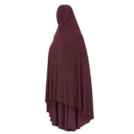 * Premium Maroon Jilbab - Divinity Collection