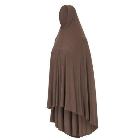* Premium Mocha Jilbab with sleeves - Divinity Collection
