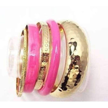 Pretty in Pink 5 Piece Bangle Set - Divinity Collection