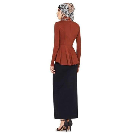 Rust Peplum Top - Divinity Collection