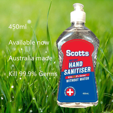 Scotts Hand Sanitiser Gel 450ml Australian Made - Divinity Collection