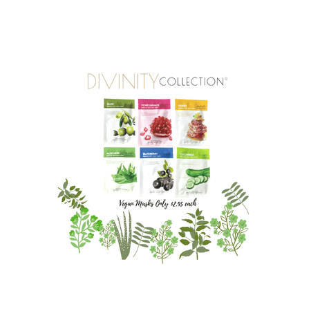 Set of 6 Natural Vegan Facial Skin care Mask - Divinity Collection
