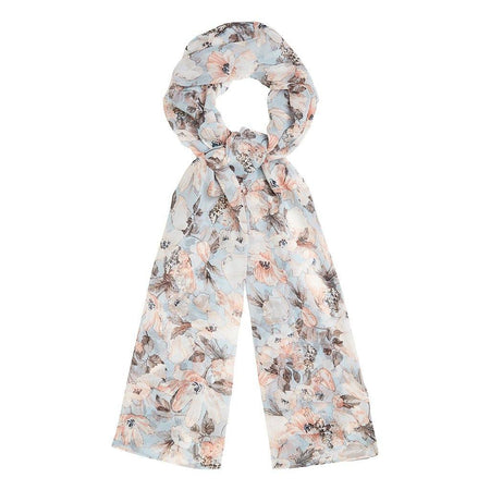 Summer Blue Floral Hijab - Divinity Collection