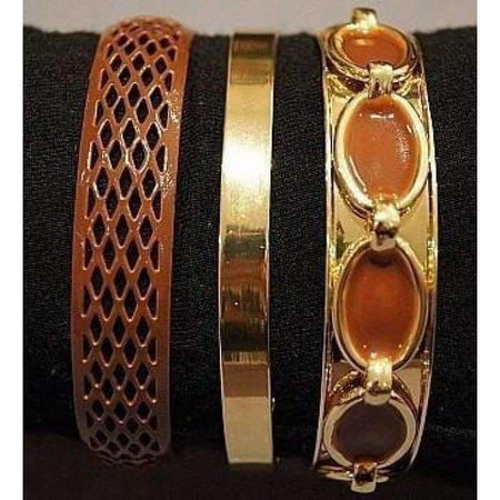 Tan and Gold 3 Piece Bangle Set - Divinity Collection