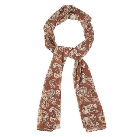 Tan Brown Paisley Hijab - Divinity Collection