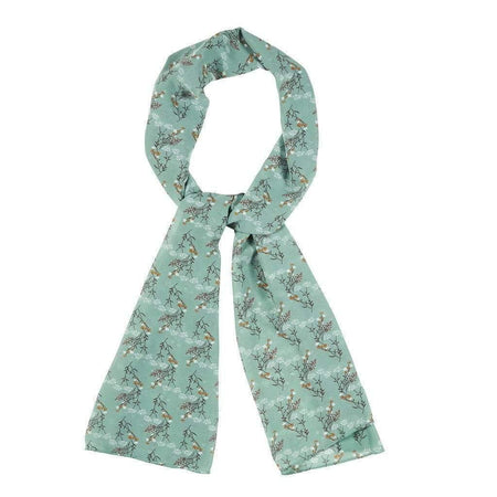 Teal and Brown Floral Hijab - Divinity Collection