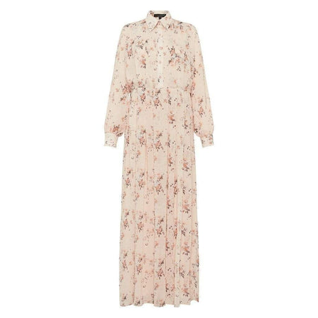 Vintage Blush Pleated Floral Dress - Divinity Collection