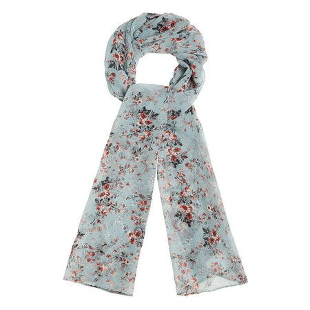 Vintage Light Blue Floral Hijab - Divinity Collection
