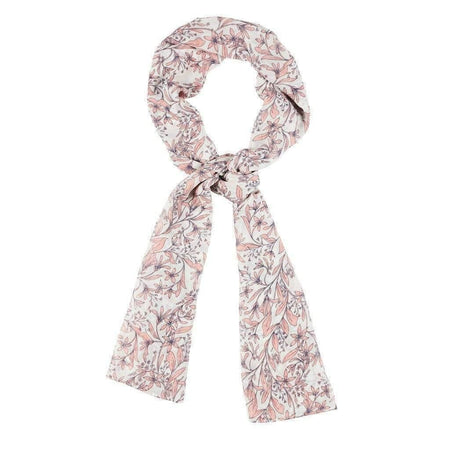 White and Coral Floral Hijab - Divinity Collection