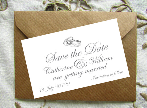 017 Rings Above Save the Date Magnet