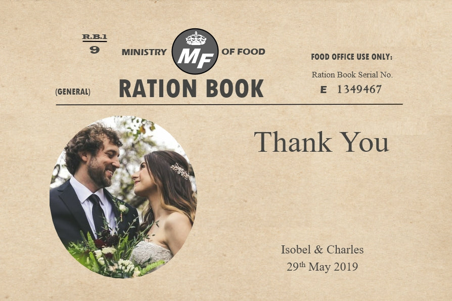 026 Ration Book Photo Thank You Cards