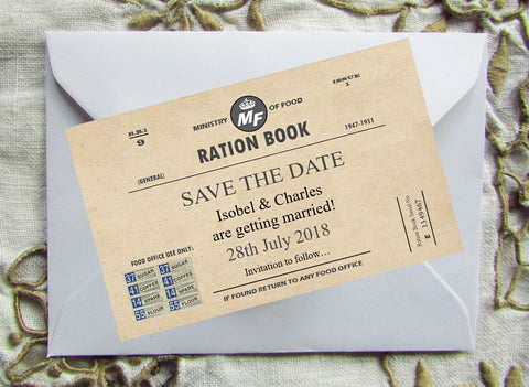 026 Ration Book Save the Date Magnet