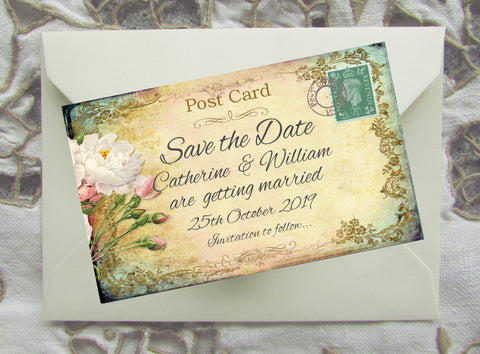 029 Cottage Garden Save the Date Magnet