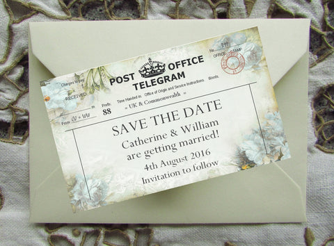 039 Flower Telegram Save the Date Magnet