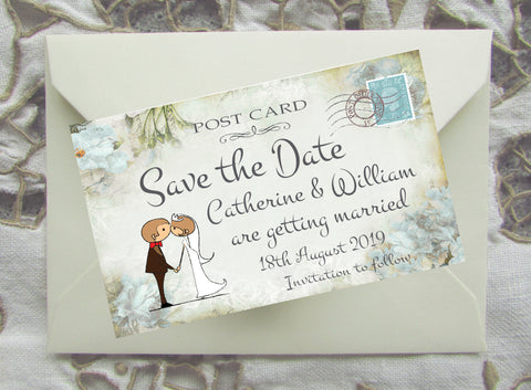046 Kiss Couple Flowers Save the Date Magnet
