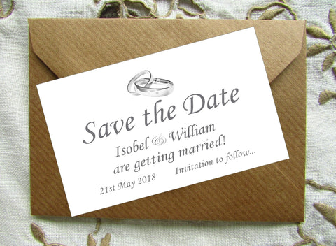 048 Linked Rings Save the Date Magnet