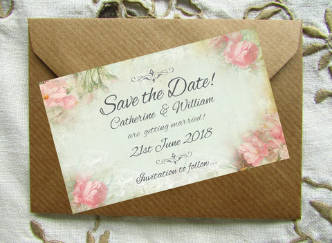053 Pink Corners Save the Date Magnet