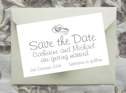 066 Rings Modern Save the Date Magnet